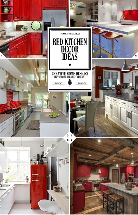 color style guide red kitchen decor ideas  designs