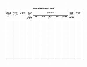 6 best images of blank haccp flow chart template printable With haccp plan template free