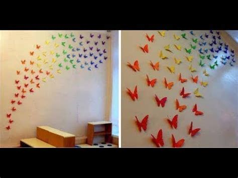 paper butterfly wall decor how to make a paper butterfly wall decor