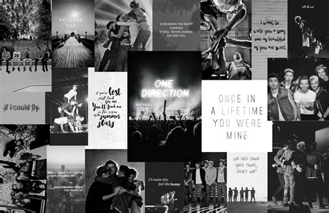 one direction aesthetic computer wallpapers colored and b
