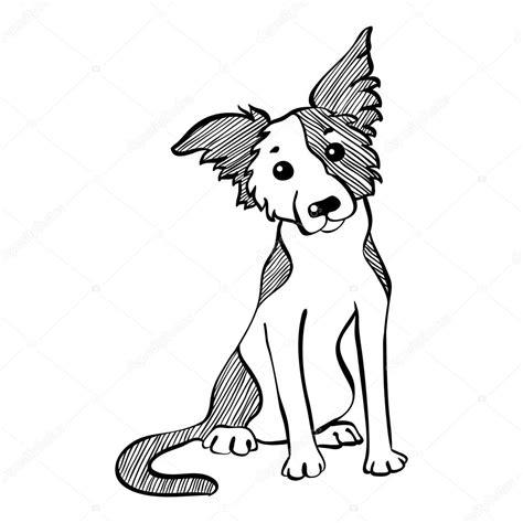 Dog Sitting Drawing Wwwpixsharkcom Images Galleries