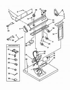 Top And Console Diagram  U0026 Parts List For Model Leq8858hq1 Whirlpool