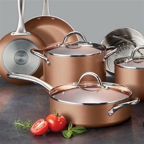 tramontina  pc nonstick cookware set steamer skillet