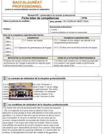 bac pro cuisine salaire fiche bilan de compétences bac pro cuisine evier cuisinereview fiche bilan pole 2 e22 rapport