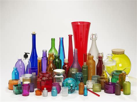 colored glass jars coloured glass bottles for food and aromatherapy use