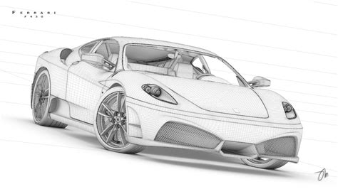 ferrari drawing how to draw f430