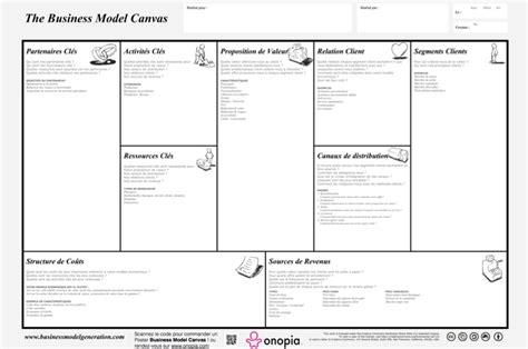 Template Word Francais by Lean Canvas Word Template Sle Templates