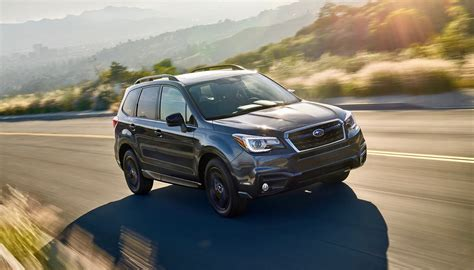 subaru forester 2018 subaru forester gets a black edition package the