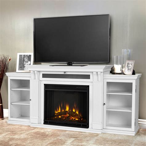 fireplace entertainment center real calie white electric fireplace 7720e w real 3748