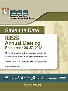 Save the Date: IBSS Annual Meeting, September 25-27, 2013 ...