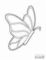 Coloring Printable Butterflies Butterfly Bing Umbrella Partir Guardado sketch template