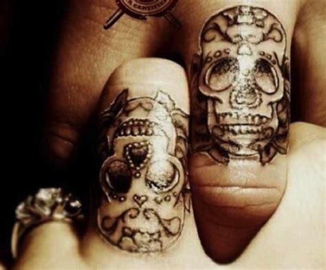 sugar skull tattoo wedding rings unique wedding ideas inked weddings blog