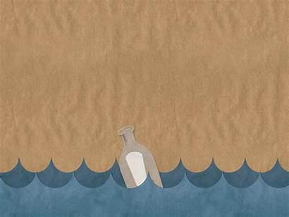 Powerpoint Sea Ppt Background Backgrounds Bottle Untuk