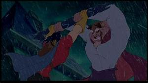 What does the Beast say to Gaston during the rooftop fight ...