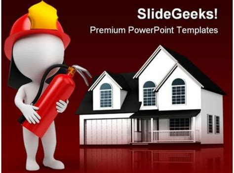 fire man  home realestate powerpoint backgrounds