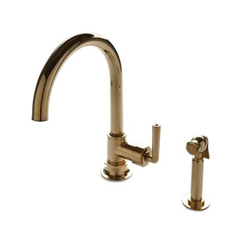 Unlacquered Brass Gooseneck Kitchen Faucet