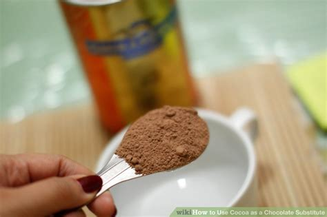 chocolate substitute how to use cocoa as a chocolate substitute 9 steps