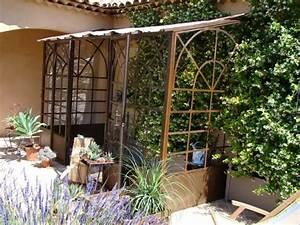 Serre Fer Forgé : serre murale en fer forg style orangeraie mobilier fer ~ Teatrodelosmanantiales.com Idées de Décoration