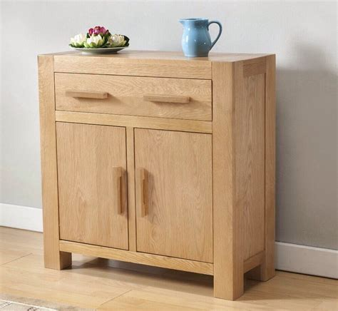 Small Wood Sideboard by Solid Wood Chunky Oak Small Compact Sideboard Cupboard