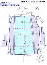 resultado de imagen para como hacer moldes fundas para asientos de autos forro diagram