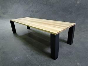 Table Bois Massif Metal : table panorama m tal et bois massif fabrication artisanale ~ Teatrodelosmanantiales.com Idées de Décoration