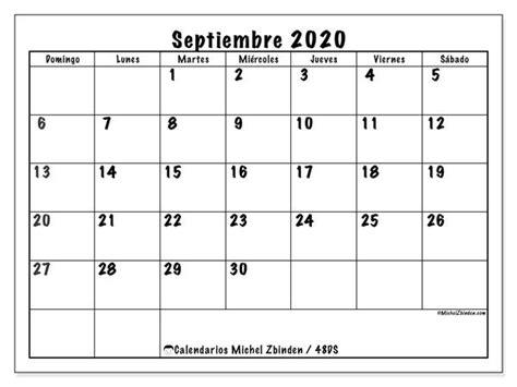 calendario septiembre  ds calendario enero