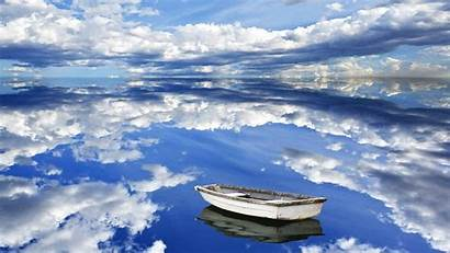 Sky Mirror Cloud Reflection Lake Clouds Backgrounds