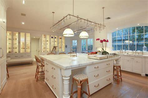 oversized kitchen island transitional kitchen cote