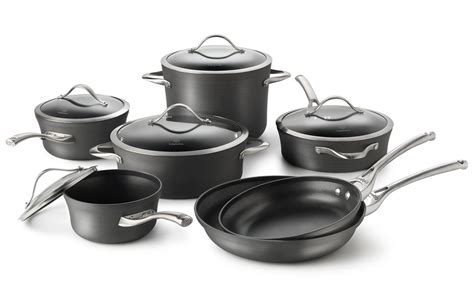 calphalon cookware contemporary nonstick sets piece pans vs anodized unison pc pots hard pan pot cutleryandmore aluminum lid hhard brand