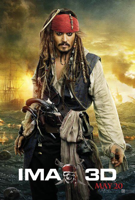 Johnny Depp's Captain Jack Sparrow costume from Pirates of