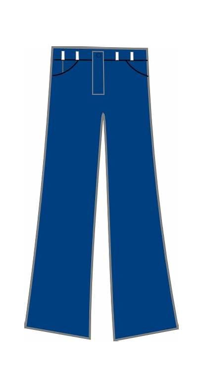 Jeans Pants Clip Cartoon Denim Clipart Trousers