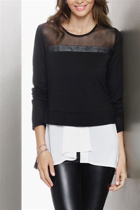 sweater blouse combo katherine barclay sweater shirt combo from york city
