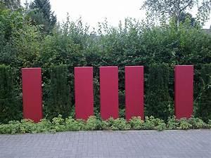 Gartengestaltung Mit Beton : sichtschutz mit beton elementen righini garten und landschaftsbau ~ Markanthonyermac.com Haus und Dekorationen
