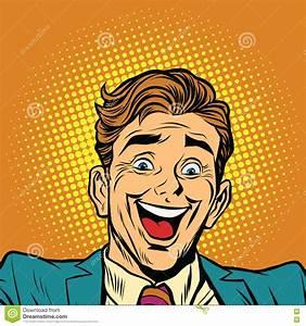 Happy Face Super Joyful Person Stock Vector - Image: 78184847