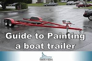 Guide To Painting Your Boat Trailer
