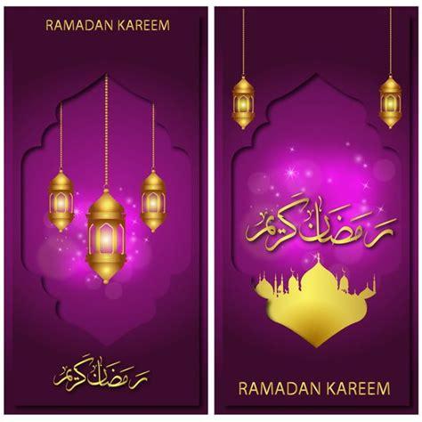 ramadan kareem eid banner  gold lantern  mosque