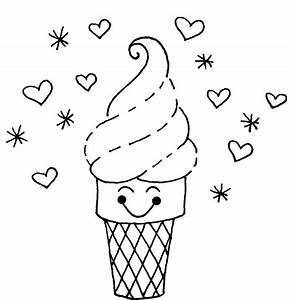 Ice Cream Color Pages - AZ Coloring Pages