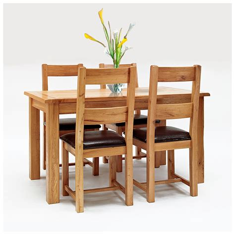 50 rustic oak dining table and chairs westbury