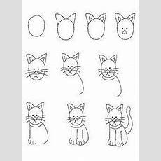 Eine Katze Zeichnen  Deko  Zeichnen Lernen Für Kinder