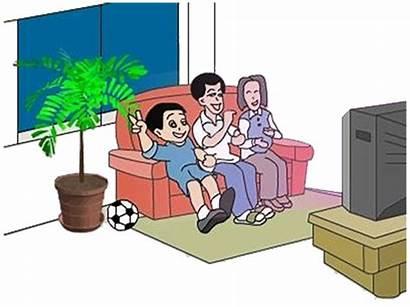 Cartoon Watching Clipart Television Transparent Clip Kartun