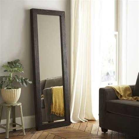 floor mirror west elm parsons floor mirror chocolate stained veneer west elm