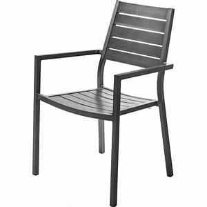 Fauteuil Jardin Aluminium : fauteuil de jardin en aluminium antibes argent leroy merlin ~ Teatrodelosmanantiales.com Idées de Décoration
