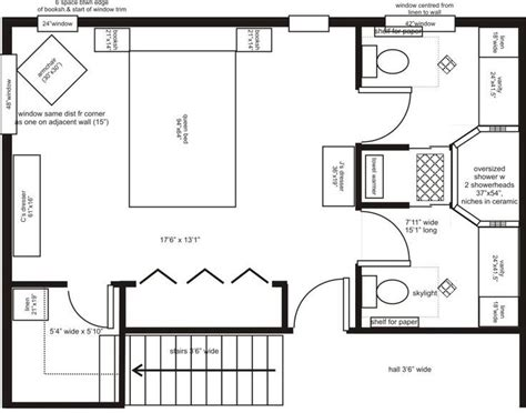Master Bedroom Plans With Bath by His And Bathroom Layouts Search Master