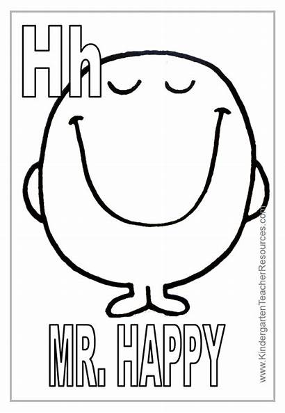 Coloring Pages Mr Letter Happy Printable Alphabet