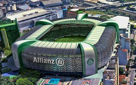 Download wallpapers Allianz Parque, aerial view, Palmeiras ...