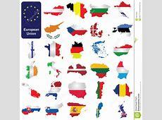Pays de l'Union Européenne illustration de vecteur Image
