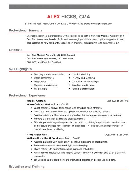 Exle Of Healthcare Resume by Resume Exles Sle Resumes Livecareer