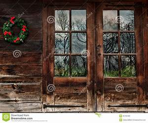 Rustic wood doors stock photo Image of nature, idyllic