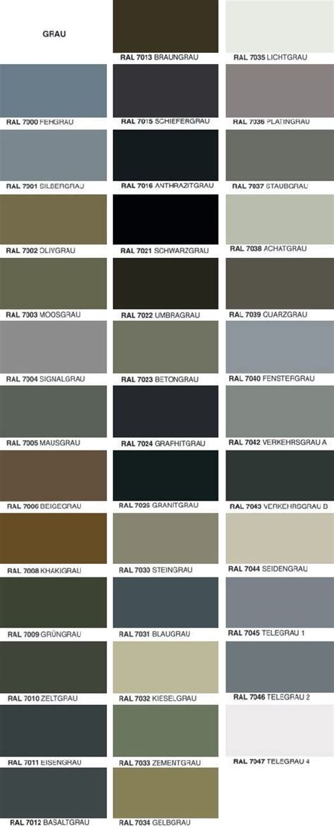und colors 220 bersicht ral farben colour palette in 2019 ral