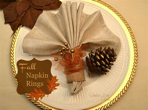 hometalk diy fall napkin rings